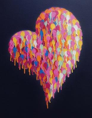 Heart (midnight blue), hand signed by Jimmy C – JimmyC Arts Bureau